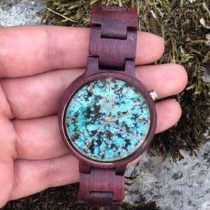 Holzuhren von 2nd Liar stonewatch purple green