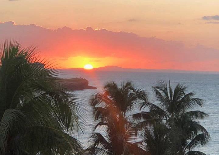Sonnenuntergang vom Balkon im Hotel Melia Varadero Kuba
